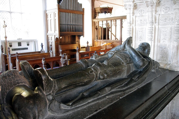 Inside Layer Marney church