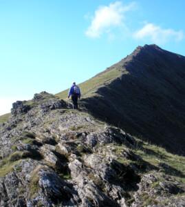 The ridge to Elidir Fawr