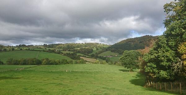 Between Pontrobert and Meifod