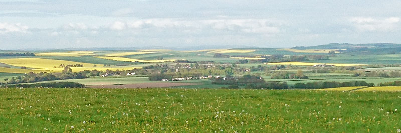 across the Kennet valley