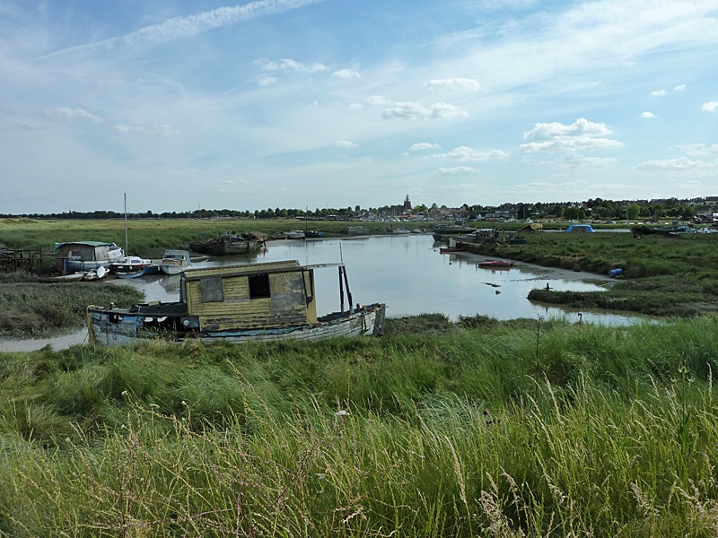Maldon from Heybridge Creek