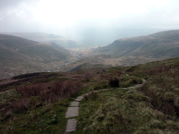 Looking back to Crowden