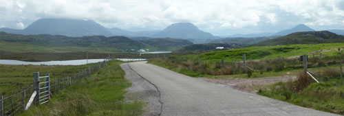 Foinaven, Arkle and Ben Stack from the Blairmore road