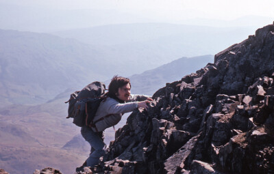 Dave Travers on Crib Goch