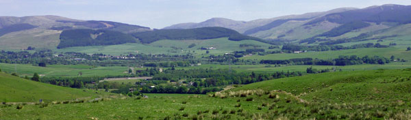Moffat and the hills beyond