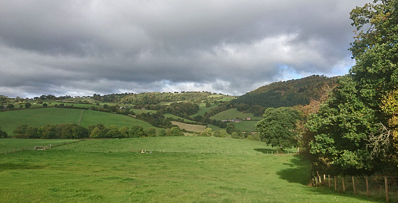 Between Pontrobert and Meifod