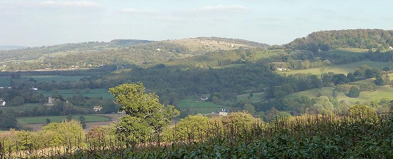 View across Witcombe Park