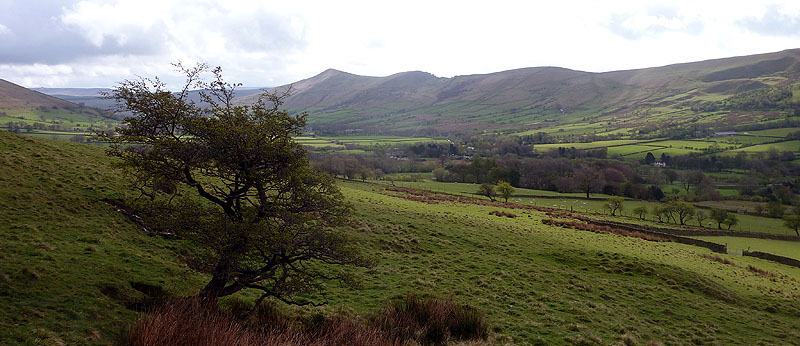 Looking back to Hollins Cross